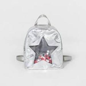 Girls' Silver Start Cut Out Backpack